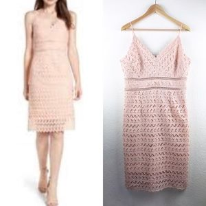 Soprano Lace Spaghetti Strap Light Pink Dress XXL